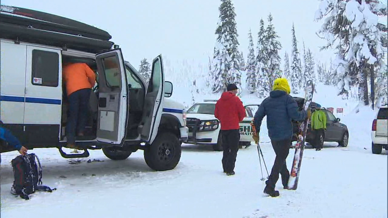 Rescue crews and volunteers faced another tough day Saturday searching for two Bellingham snowboarders who have been missing for nearly a week.  (KOMO News)