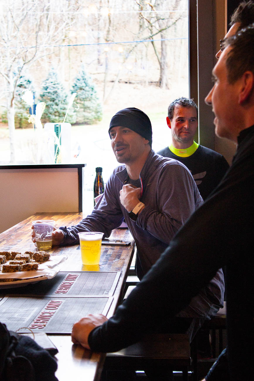 Runners enjoying a complimentary drink at{ }Fifty West Brewpub and Production Works after their Saturday morning run{ }/ Image: Katie Robinson, Cincinnati Refined // Published: 1.27.19