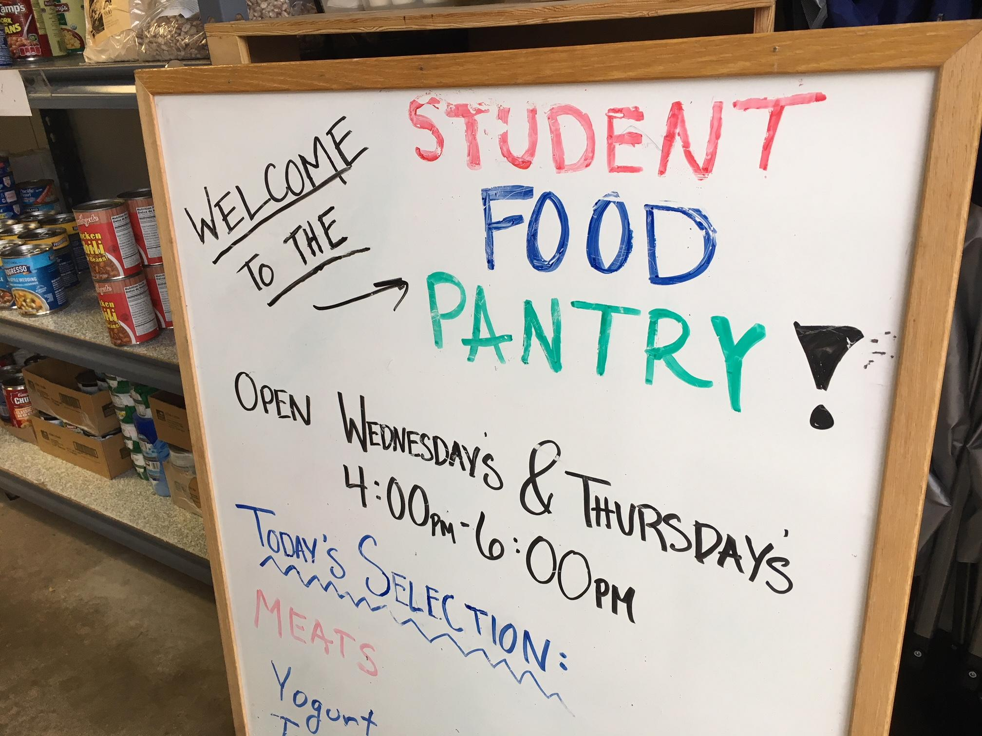 The Student Food Pantry helps local college students get nutritious food. Photo by Ellen Meny.