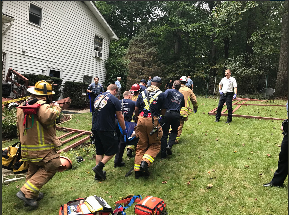 Mass casualty incident reported after deck collapse in Ellicott City<p>Courtesy: HCDFRS<br></p>