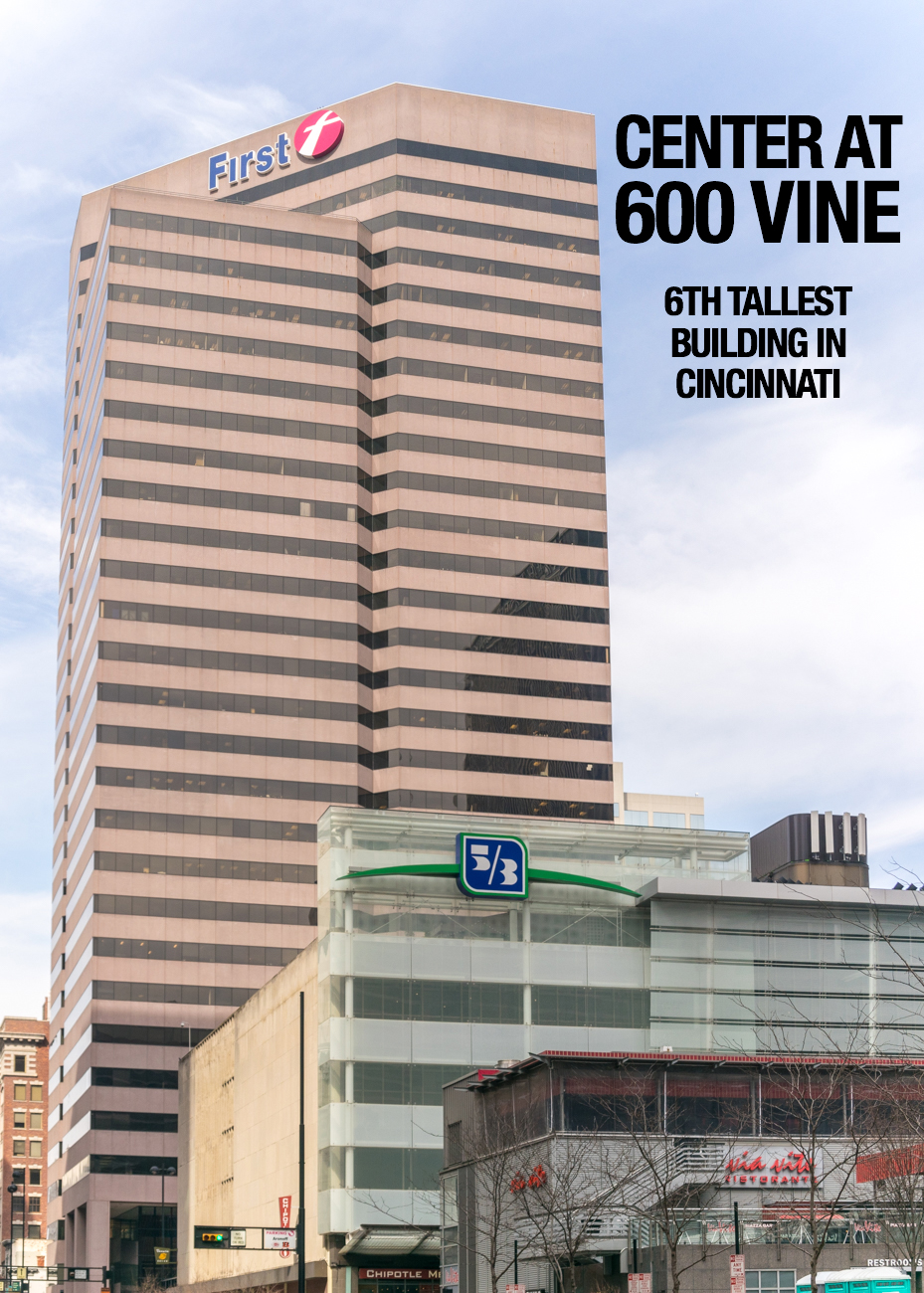 Center at 600 Vine: 418 feet tall, 30 floors, built in 1984 / Image: Phil Armstrong, Cincinnati Refined // Published: 2.21.17