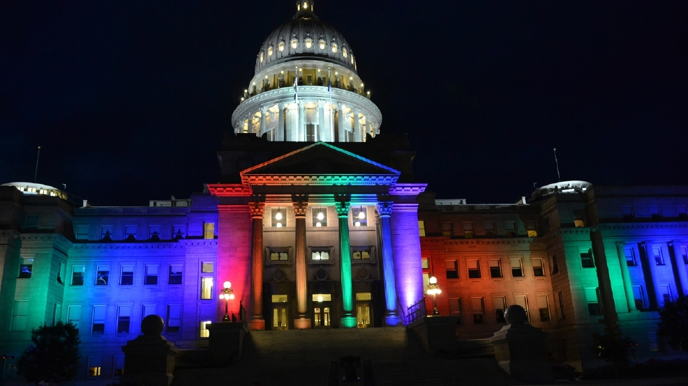 Statehouse lights up in rainbow colors for #PrideFest  sc 1 st  KBOI & They did it... Statehouse lights up in rainbow colors for ... azcodes.com