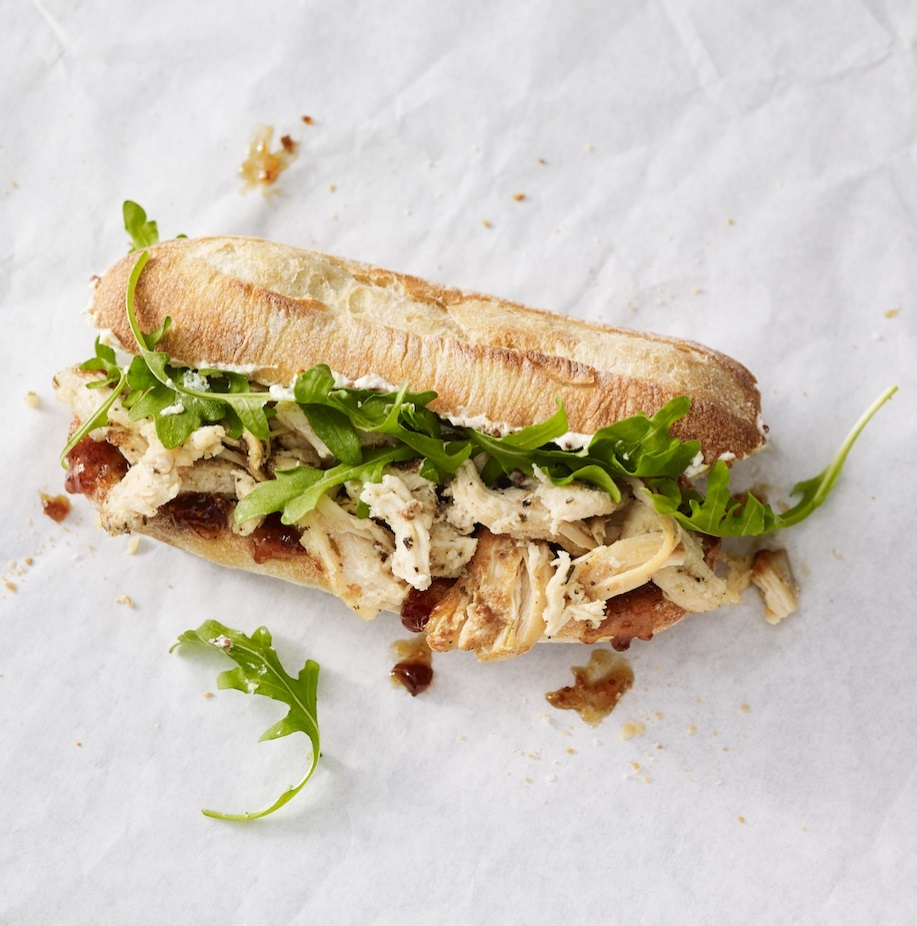 Herbed Chicken and Fig Spread Sandwich (Image courtesy of Starbucks)