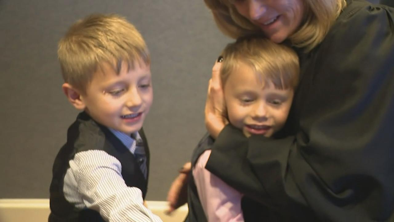 Adoption was finalized for 17 children in Franklin County Thursday, on National Adoption Day (WSYX/WTTE)