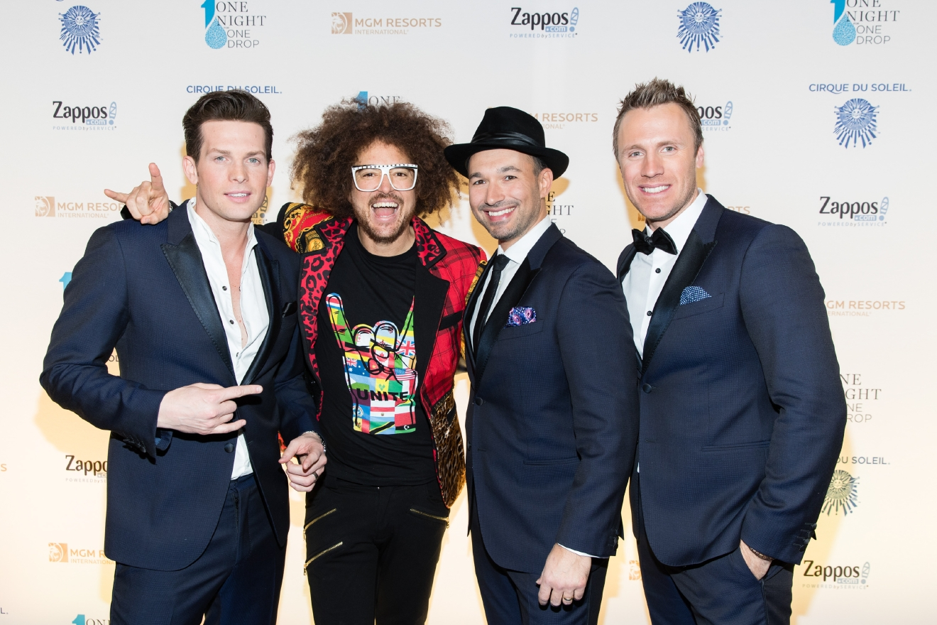 The Tenors and Redfoo at One Night for One Drop 2017. (Photo courtesy of Erik Kabik/ErikKabik.com)