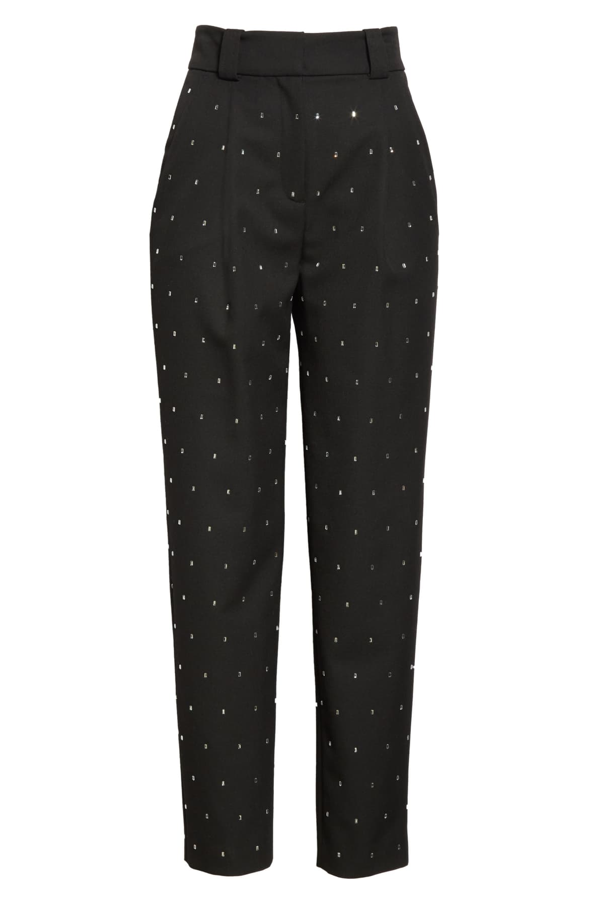 "<a  href=""https://shop.nordstrom.com/s/a-l-c-colin-crystal-pleated-tapered-pants/5442361/full?origin=keywordsearch-personalizedsort&breadcrumb=Home%2FAll%20Results&color=black"" target=""_blank"" title=""https://shop.nordstrom.com/s/a-l-c-colin-crystal-pleated-tapered-pants/5442361/full?origin=keywordsearch-personalizedsort&breadcrumb=Home%2FAll%20Results&color=black"">A.L.C. Colin Crystal Pleated Tapered Pants - $550</a>. From cozy to gold hued to tailored, Nordstrom has the hottest trends for getting glam this holiday season! (Credit: Nordstrom)"