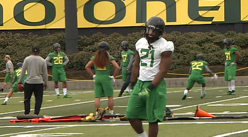 The Oregon football time is conducting spring practice for the first time under coach Willie Taggart. (SBG)