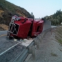 Semi rollover crash shuts down Hwy 2 east of Wenatchee
