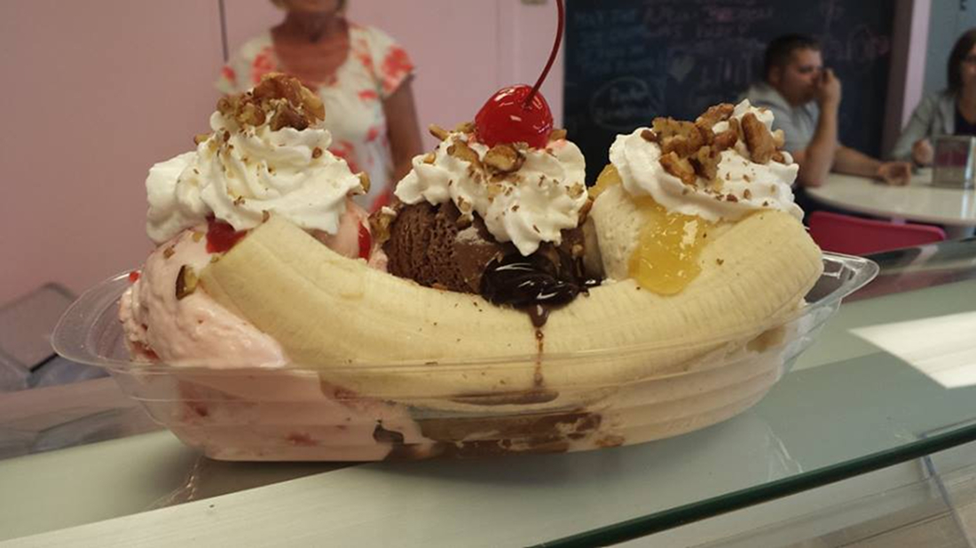 Lake City Creamery's Banana Split /{ }Image courtesy of Lake City Creamery // Published: 8.22.18