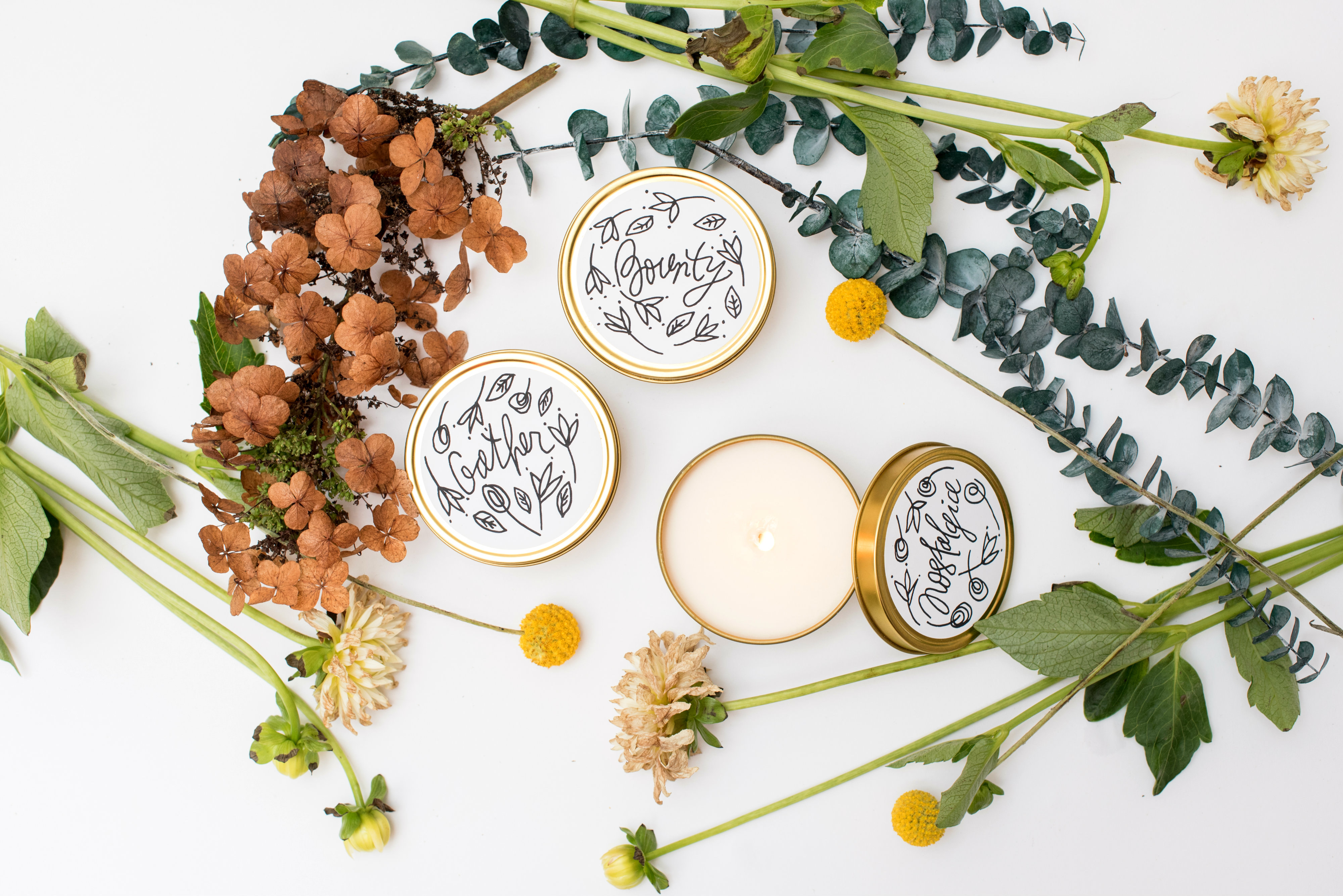 "We all know the holiday season can be a bit stressful (extended family visits, shopping and financial burdens), which is why I like to stock up on soothing scents and candles galore this time of year. And nothing gets me faster than pretty packaging and a product that is environmentally responsible. Artist Amina Ahmad knocks it out of the park on both fronts with her all-natural soy candles ""Inspired by nature and rooted in mindfulness.""  (Image: Courtesy Handmadehabitat)"