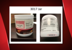 A picture the 3017 jar, one of the Custom Culinary recall products, with a lot code circled. (FSIS)   .PNG