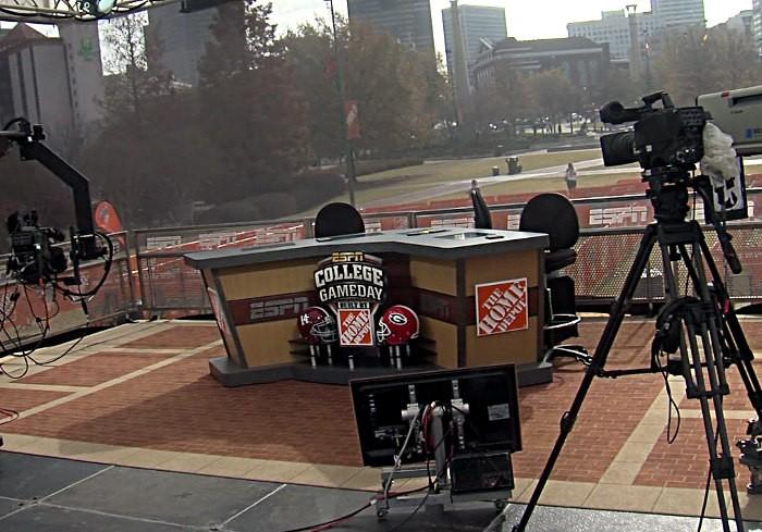 ESPN Gameday set their Saturday show in Atlanta for the 2012 SEC Championship game.