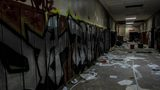 Man gets rare look inside abandoned Flint Central High School