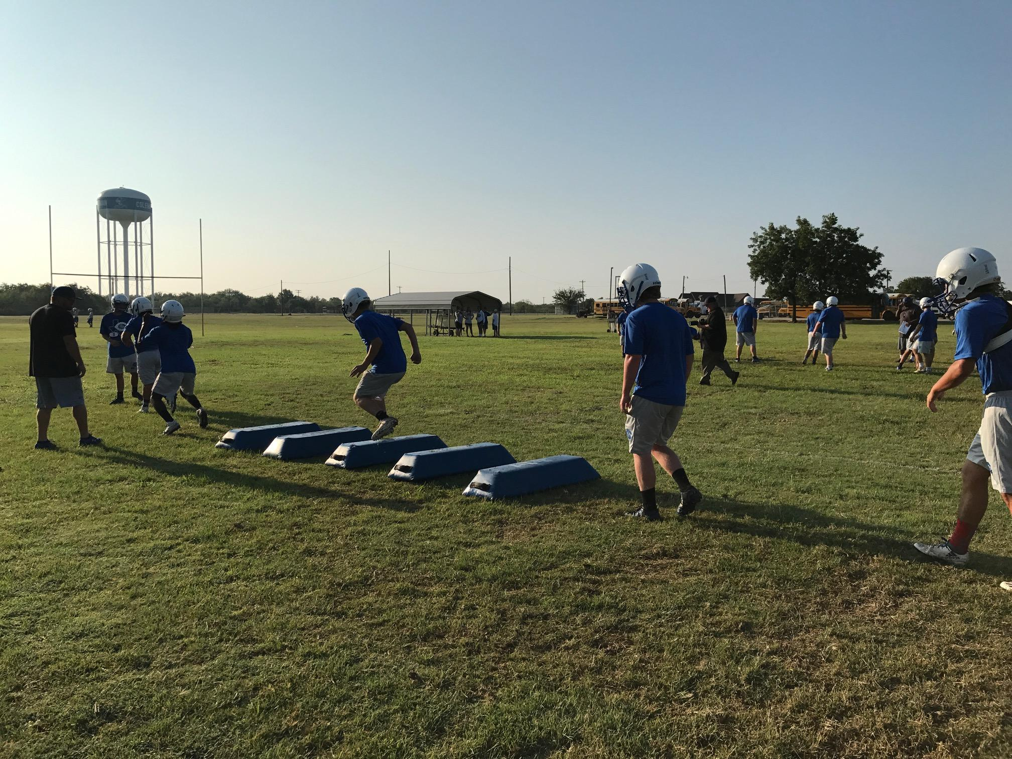 DAY 3: High school football practice -- Coleman High School (Photos by Chris Wilner& Evan Nemec)