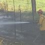 Firefighters put out five brush fires along highway I-82 in Sunnyside
