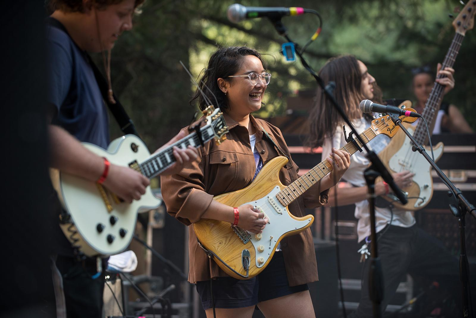 Music fans of all ages braved the summer heat Friday for the 2017 Pickathon, an independent music festival held on Pendarvis Farm in Happy Valley. The four-day festival brings together local musical acts and artists from around the globe, and spans several genres. (Photo taken 8-4-2017 by Tristan Fortsch/KATU News)