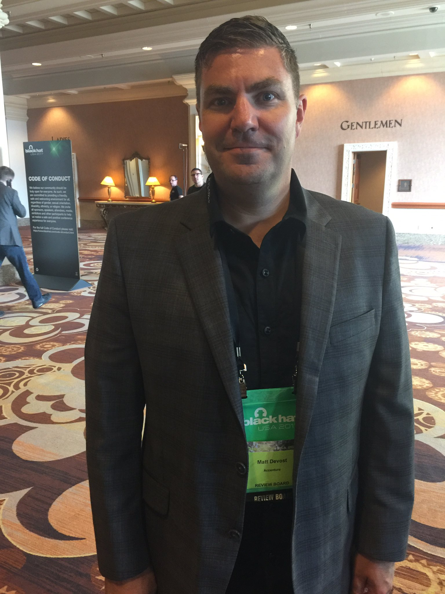 This is cyber security expert Matt Devost talking about protecting infrastructure, at the 2017 Black Hat convention. (Jeff Gillan | KSNV)