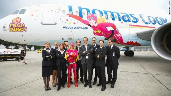 Warming to the theme, in 2009 Thomas Cook's Belgian branch unveiled its Mega Mindy livery -- inspired by a popular children's cartoon character created by the animation company Studio 100.
