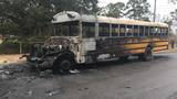 Students evacuated before MCPSS school bus engulfed in flames in Grand Bay