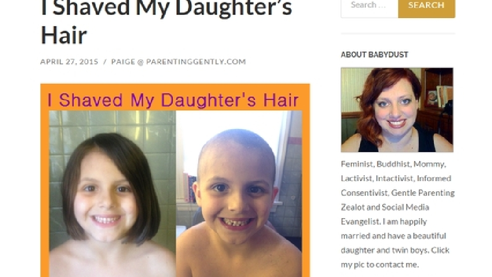 Shaved my wife and daughters