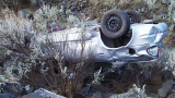 Car goes off cliff in Oregon, comes to rest on victim's head