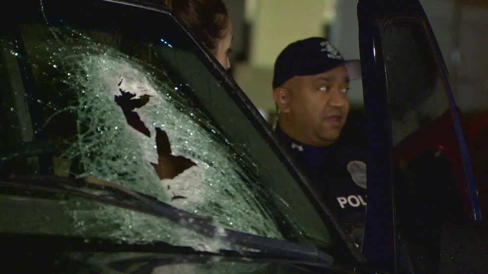 Concrete smashes into drivers' windshields in South Seattle