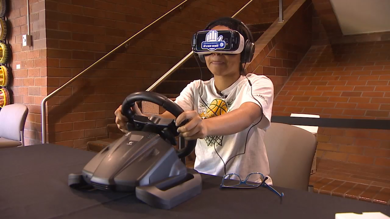 "Summer marks what police and other agencies call the ""100 Most Deadly Driving Days"" for teens. The Auburn Police Department is using a new tool to teach young drivers about the dangers of distracted driving. (Photo: KOMO News)"
