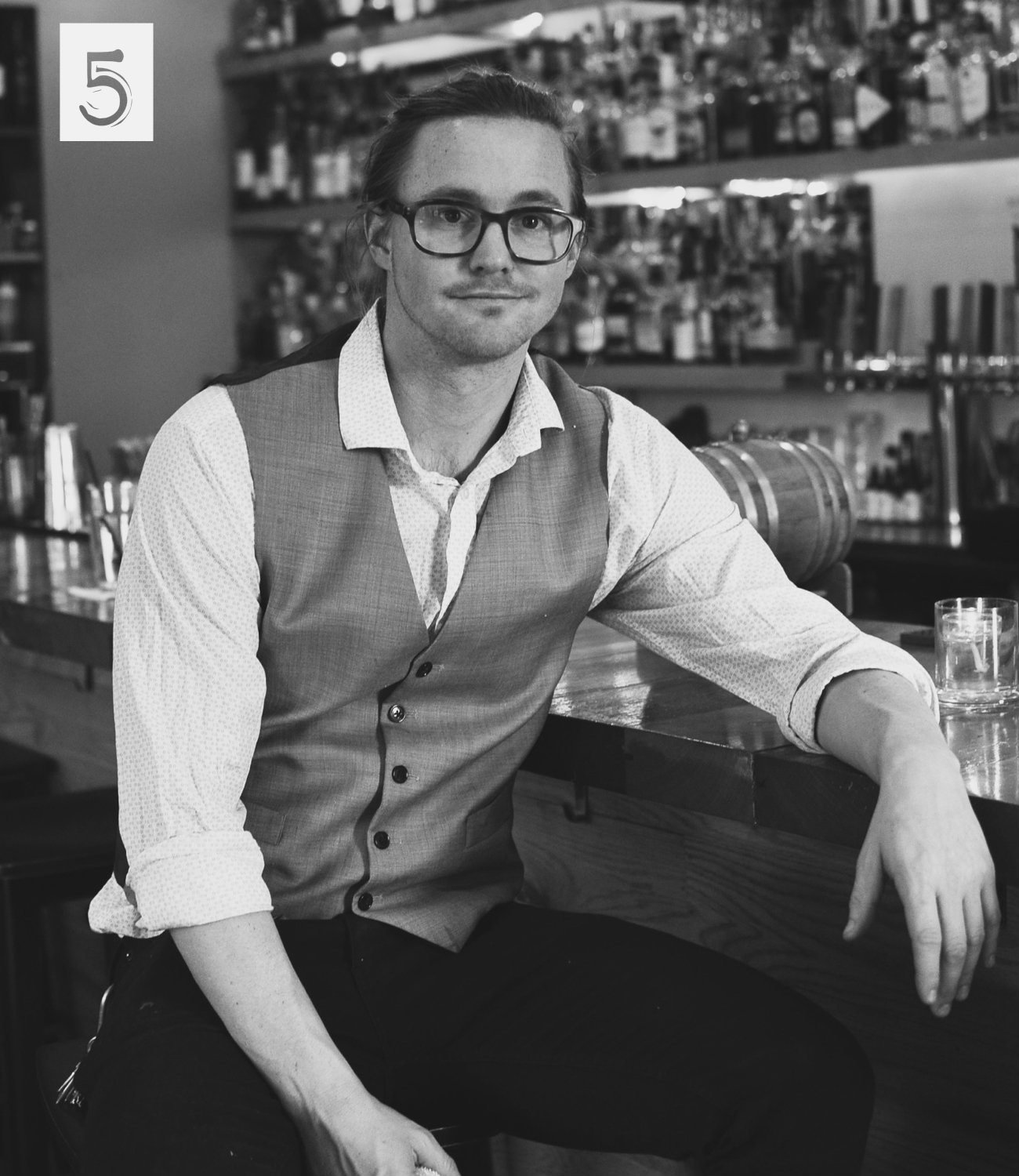 #5 - Say hello to John Ford, operating partner of The Littlefield in Northside. The Littlefield is this amazing bourbon bar & restaurant that we photographed. You should check it out. Seriously, check it out. / Image: Leah Zipperstein, Cincinnati Refined