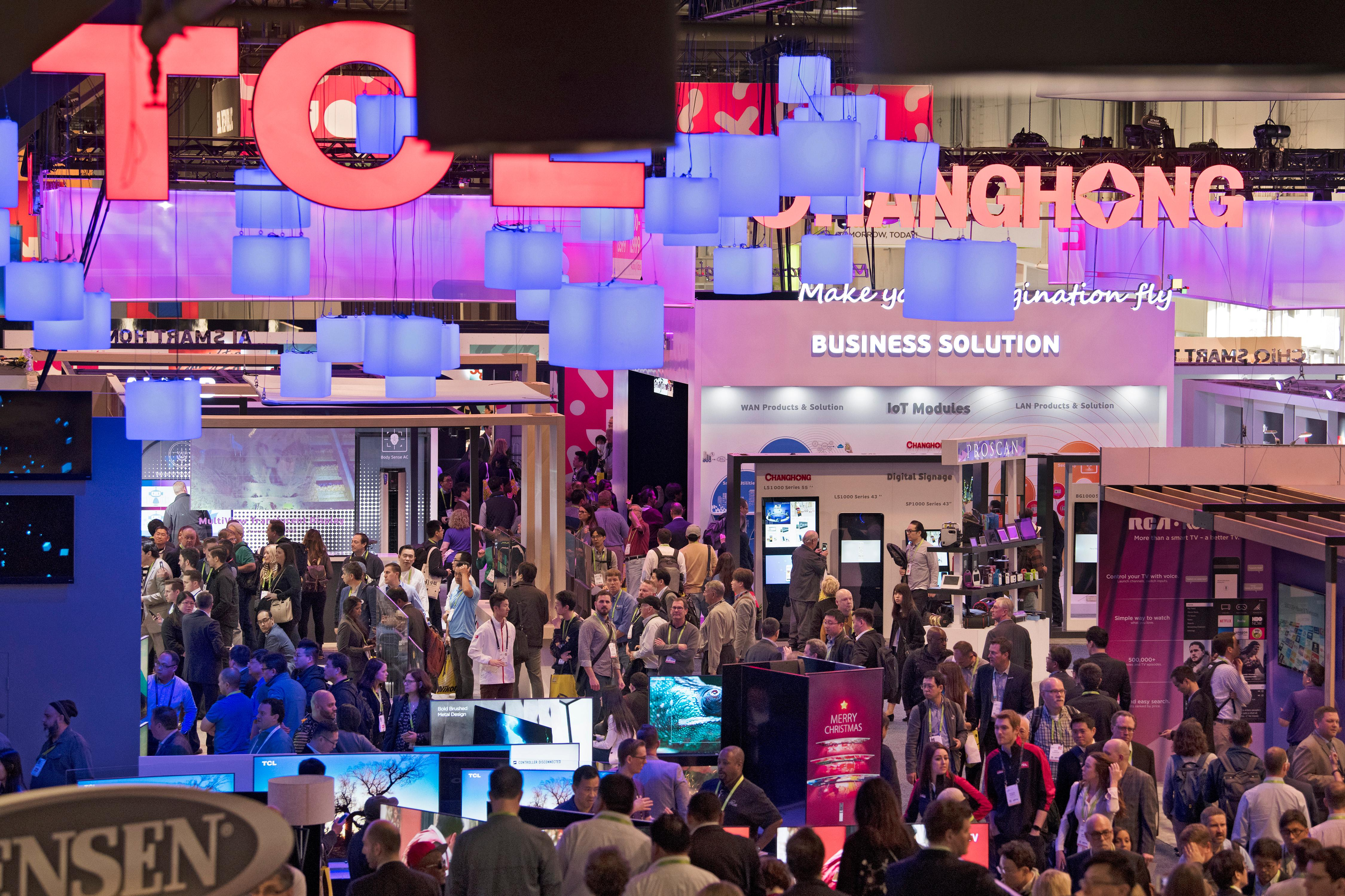 Some of the over 175,000 attendees are seen during the second day of CES Wednesday, January 10, 2018, at the Las Vegas Convention Center. CREDIT: Sam Morris/Las Vegas News Bureau