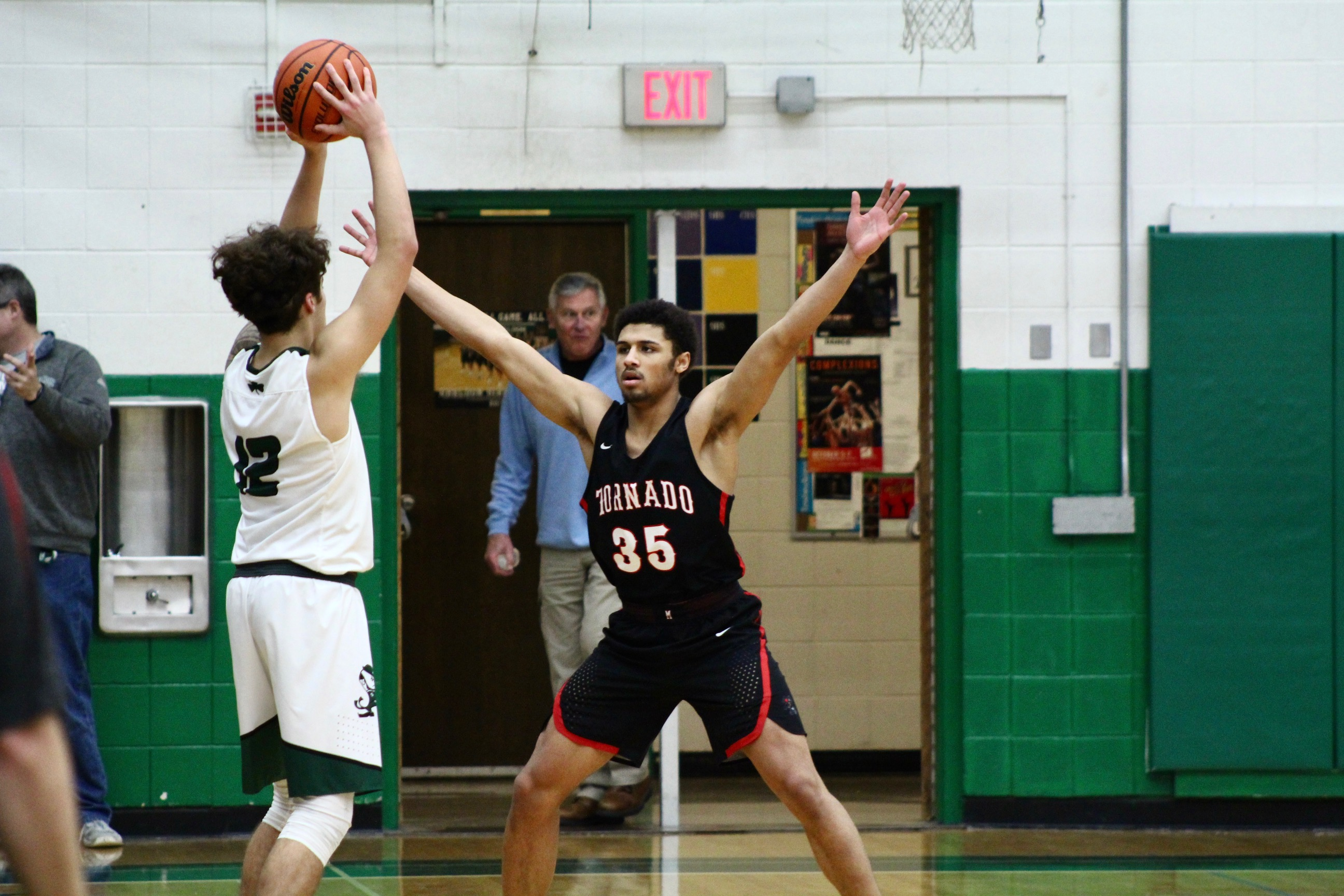 The Sheldon Irish fell to the Black Tornado, 70-59, in a Southwestern Conference matchup. Photo Courtesy of Zachary Neel.{ }