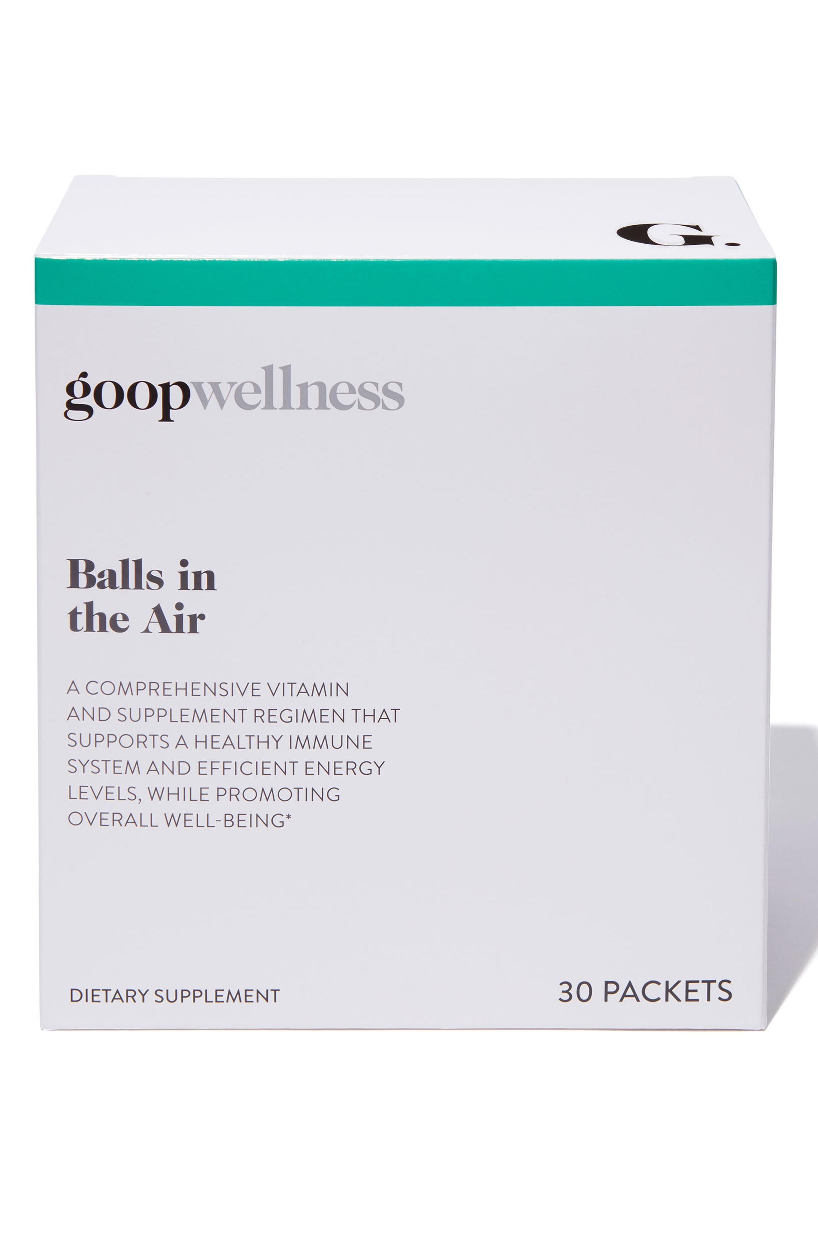 A mix of vitamins to help you keep all those balls in the air at once! Goop 0 Day Supplement Balls In The Air - $90. More info at Nordstrom.com/POP (Image: Nordstrom)