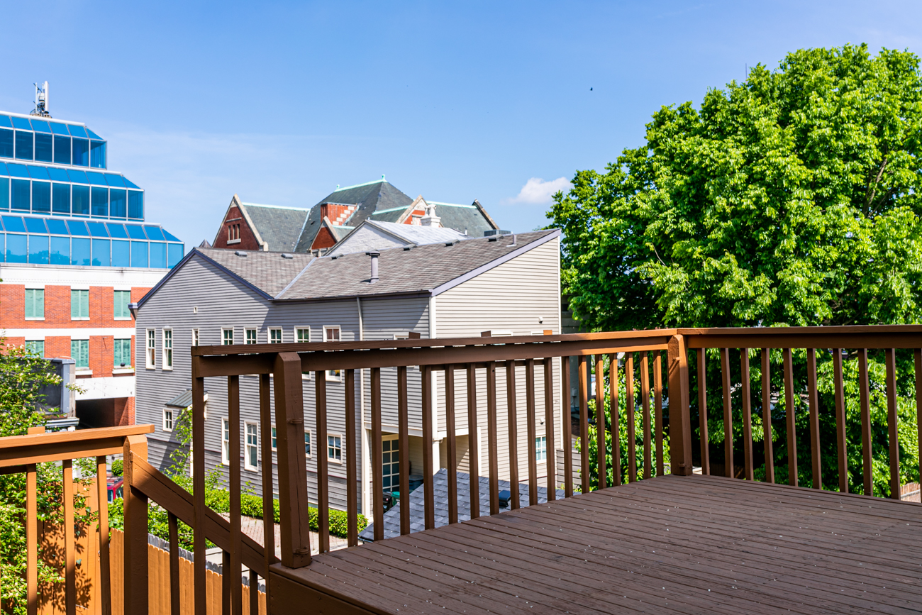 The house has a view of Mt. Adams from the second-floor deck. / Image: Amy Spasoff // Published: 5.22.19