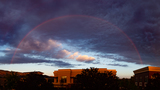 PHOTOS: Spring thunderstorms, double-rainbow light up Mother's Day sky