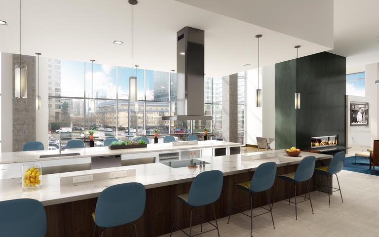 The Collection Demonstration Kitchen on Level 3 at The Danforth.