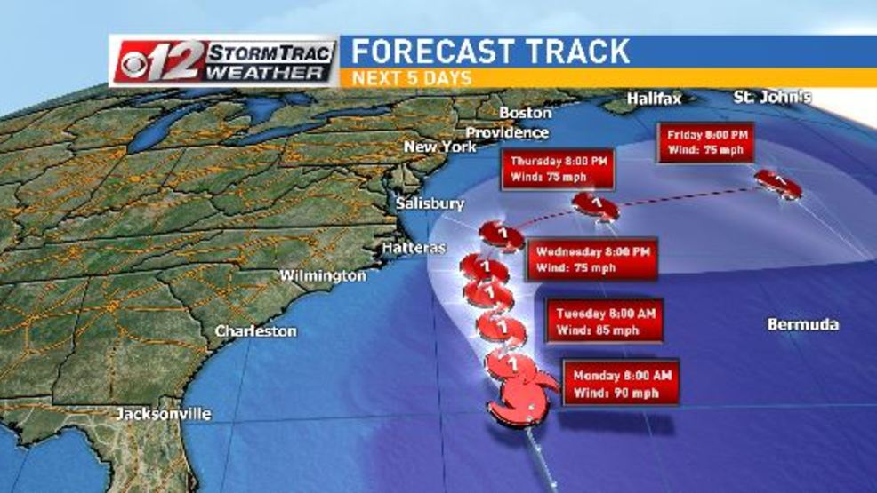 hurricane maria losing strength as it moves north