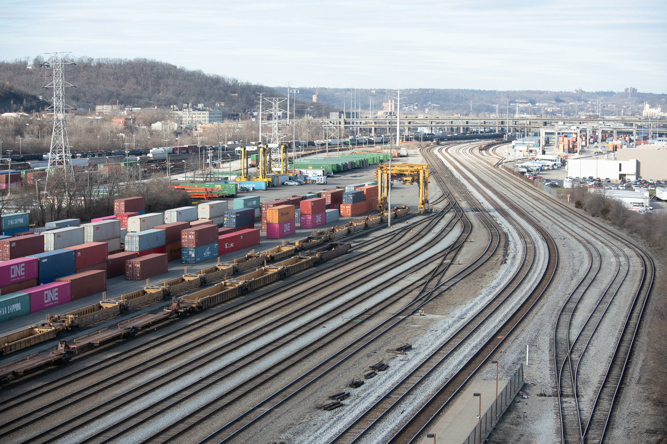 A view of the rail yard looking north / Image: Phil Armstrong, Cincinnati Refined // Published: 1.17.20