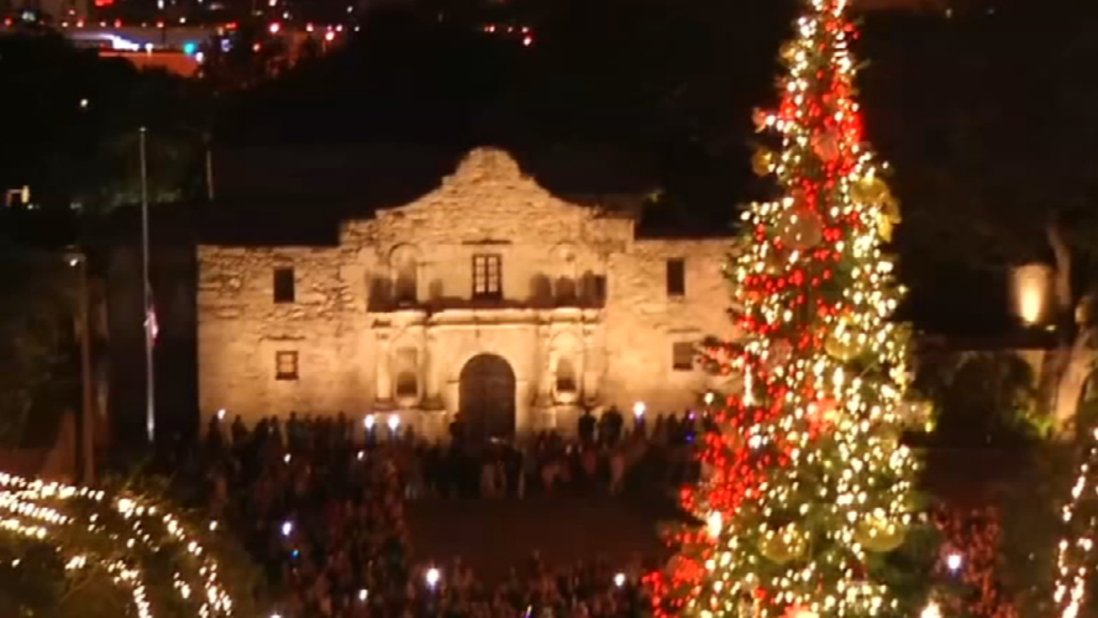 City Moving Christmas Tree Out Of Alamo Plaza