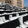 TxDOT displays 929 'ghost shoes' to remind people about buckling up