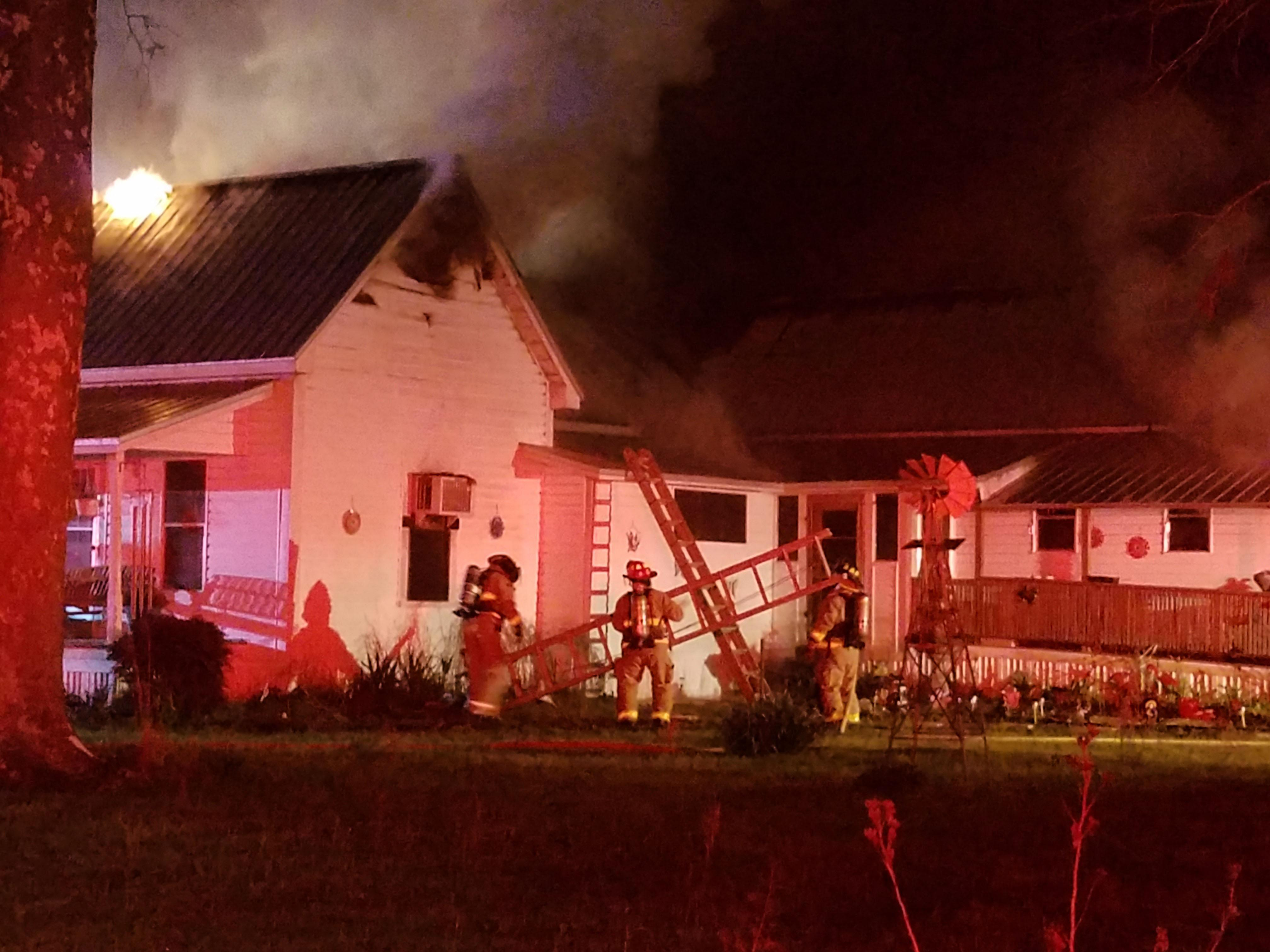 Photo: Firefighters Battling Paxton House Fire Source: Walton County Sheriff's Office
