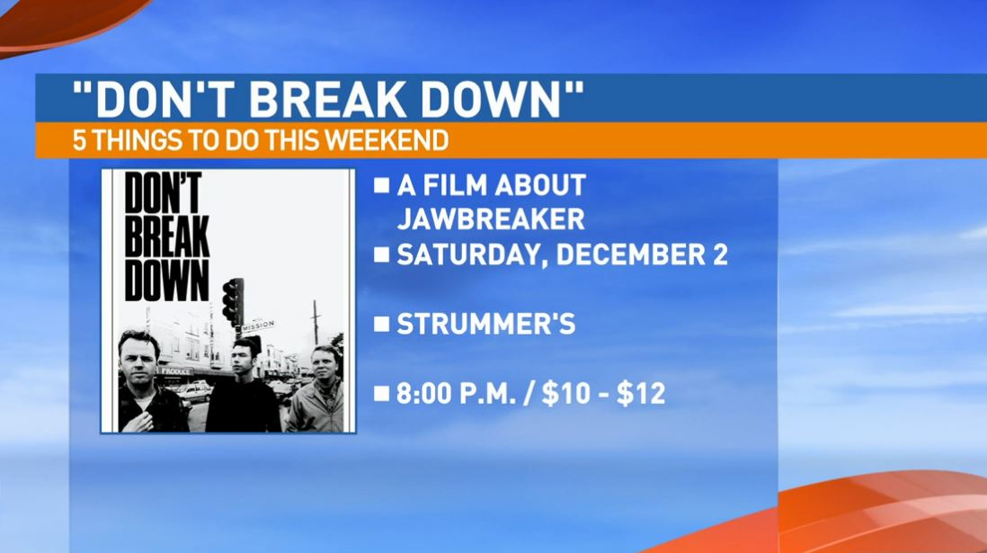 Don't Break Down, a film about Jawbreaker, Saturday at Strummer's