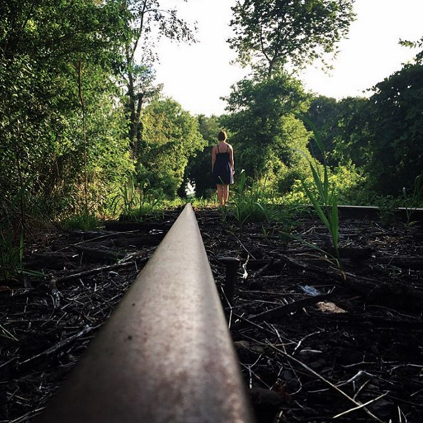 IMAGE: IG user @sandyc526 / POST: Just some abandoned railroad tracks we walked a mile on in 110 degree heat!!