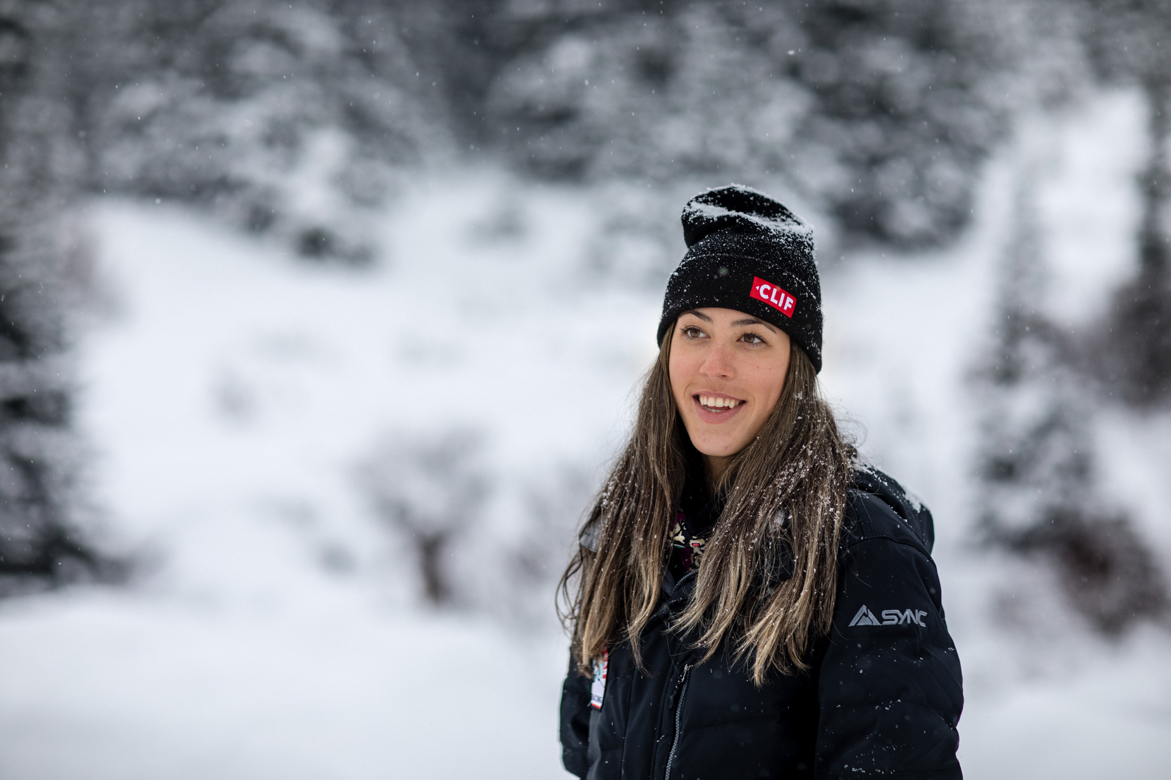 Isabella Wright seen in a Clif photo shoot Arapahoe Basin, Colorado. (Photo:{ }Christian Pondella)