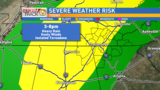 Severe storms possible Friday afternoon & evening