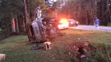 Driver injured in Cantonment rollover
