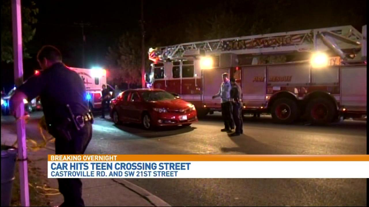 A 14-year-old girl was injured after she was hit by a car on the West Side on Tuesday, November 7, 2017. (Photo: Sinclair Broadcast Group)