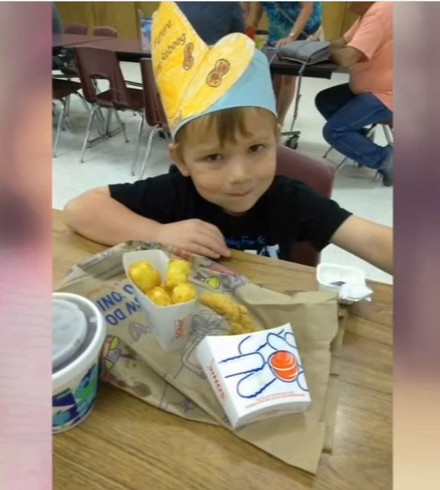 Ryland Ward, 5.{&amp;nbsp;}He was shot 5 times inside First Baptist Church with his stepmom and stepsisters. He is out of surgery and is stable. (Courtesy Photo)<p></p>