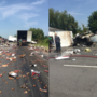 Fireball whisky covers interstate after big rigs crash in central Arkansas