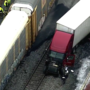 Semi-truck collides with CSX train in Maryland, police say