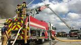 Officials battle fire at Jacksonville furniture store