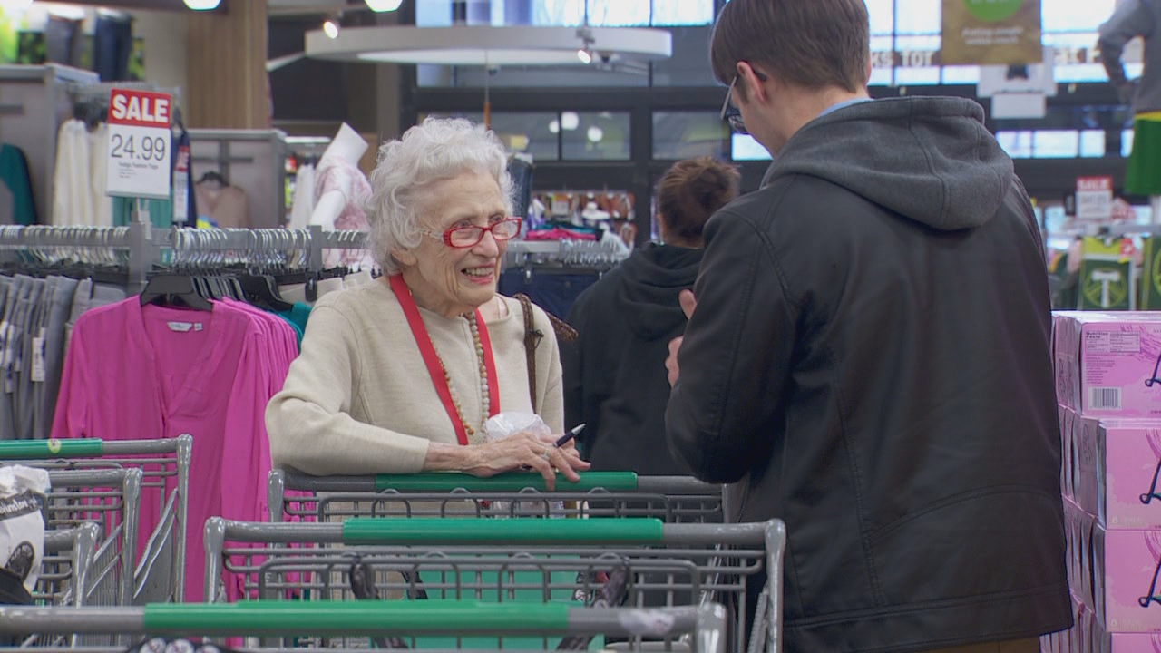 Twice a week, Jean comes to the Hollywood Fred Meyer to shop for homebound seniors and people with disabilities.
